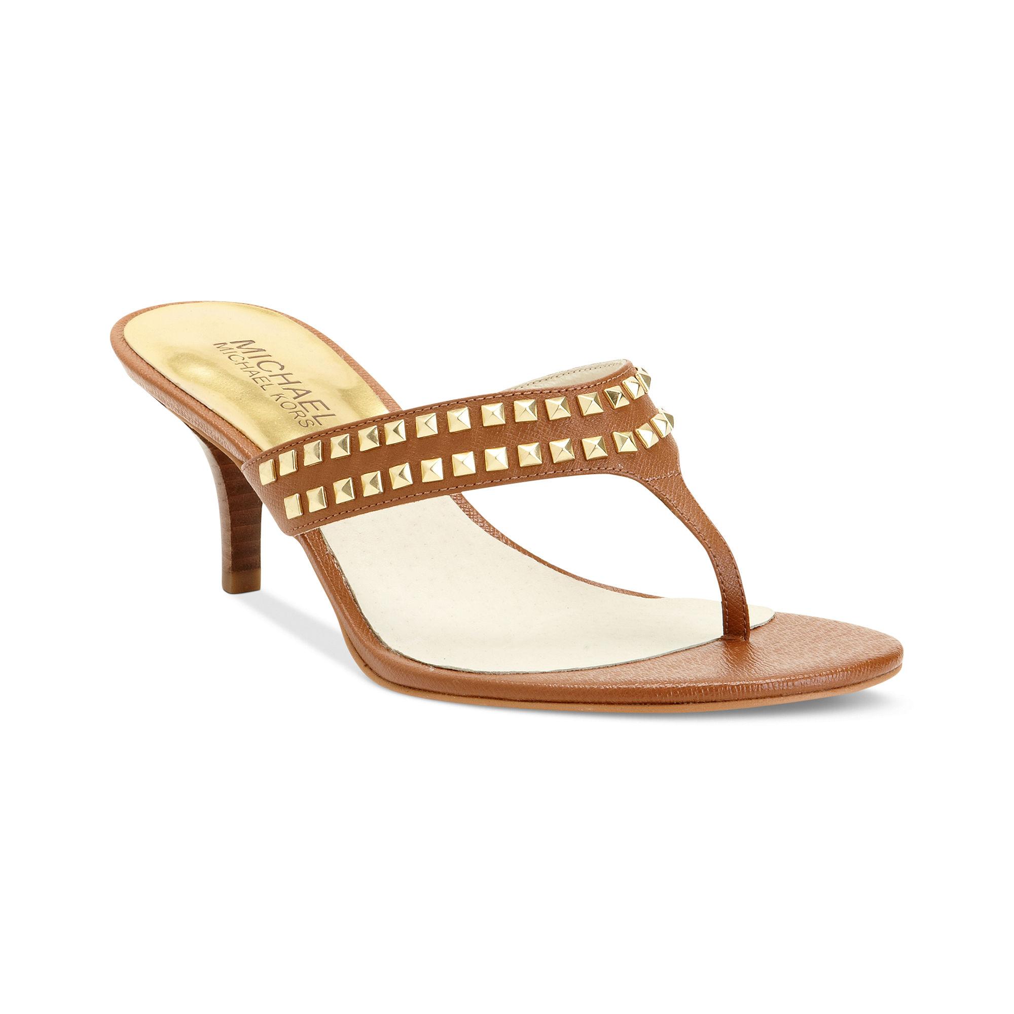 f39ef99703a1 Lyst michael kors alexi mid heel thong sandals in yellow jpg 2000x2000  Thong sandals heels