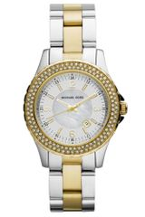 Michael Kors Womens Madison Two Tone Stainless Steel Bracelet 33mm - Lyst