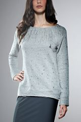 Patrizia Pepe Long Sleeve Fleece Top - Lyst