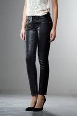 Patrizia Pepe Slimfit Leather Trousers - Lyst