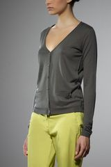Patrizia Pepe Cardigan in Silk and Cashmere Yarn - Lyst