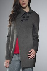 Patrizia Pepe Jacket Cardigan in Alpaca Blend Yarn - Lyst