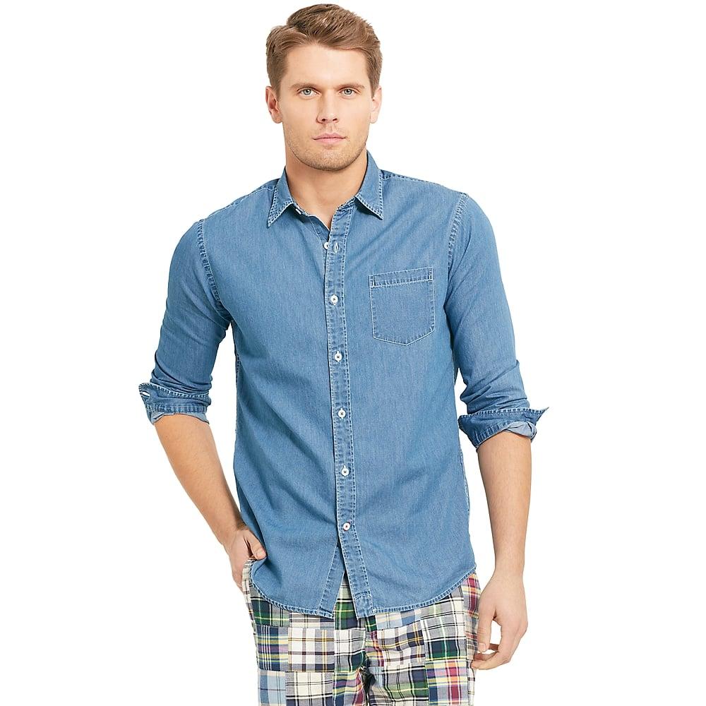 Tommy Hilfiger Vintage Fit Denim Shirt In Blue For Men