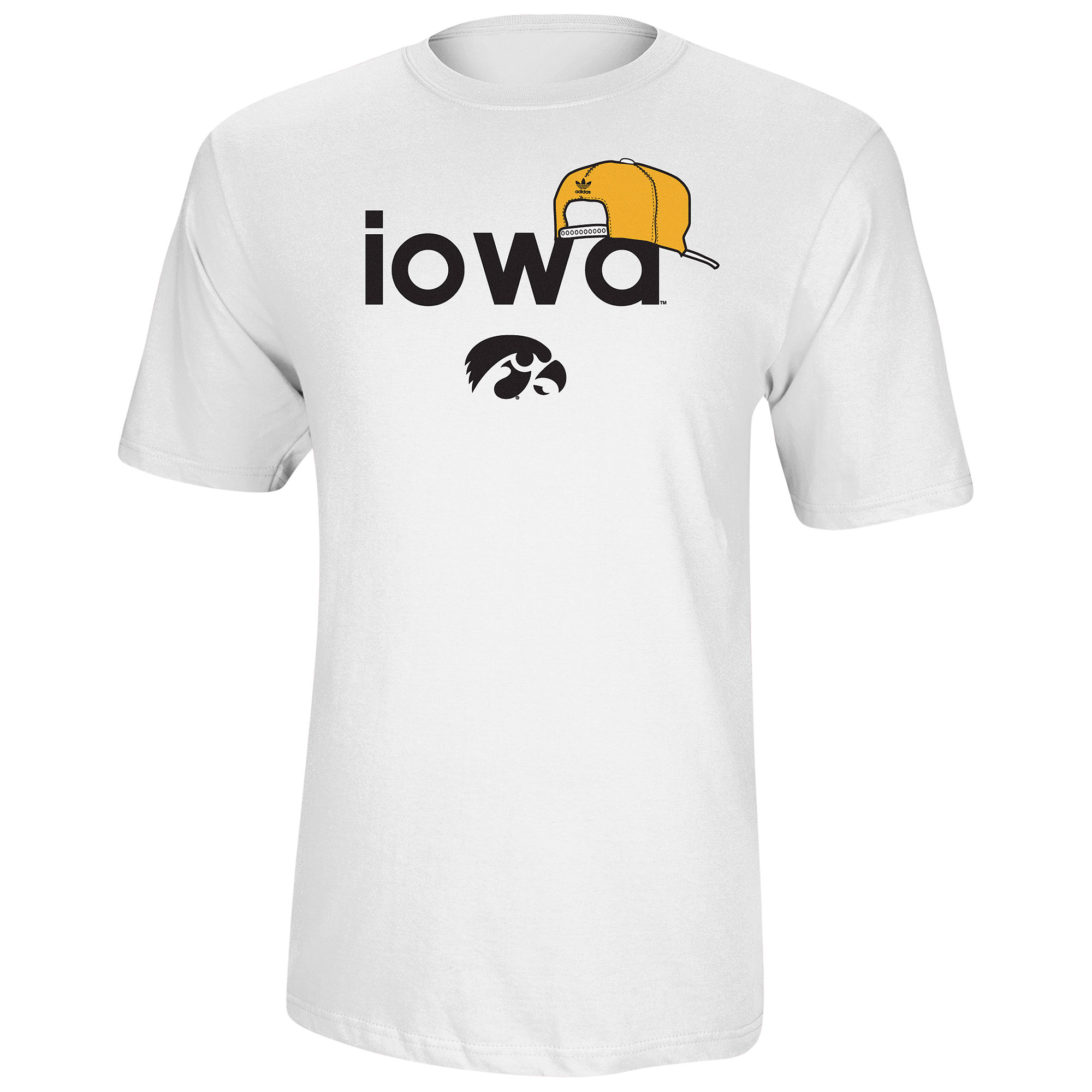 Adidas university of iowa hawkeyes snappin back crew neck for University of iowa shirts