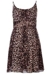Anna Sui Leopard Print Dress - Lyst