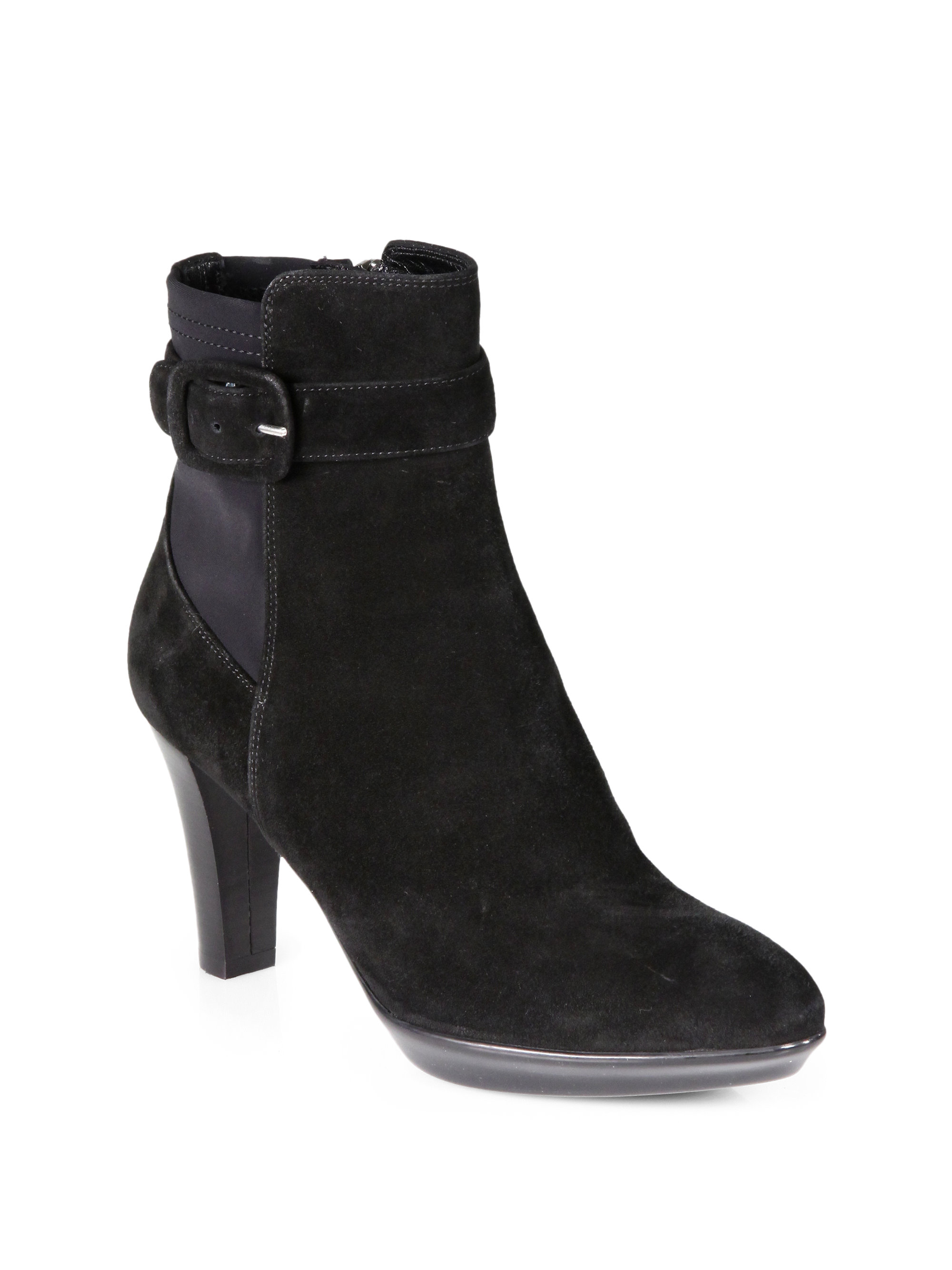 aquatalia by marvin k rexana suede platform ankle boots in