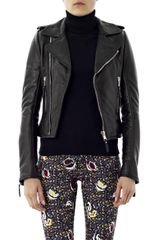 Balenciaga Classic Leather Zip Biker Jacket - Lyst