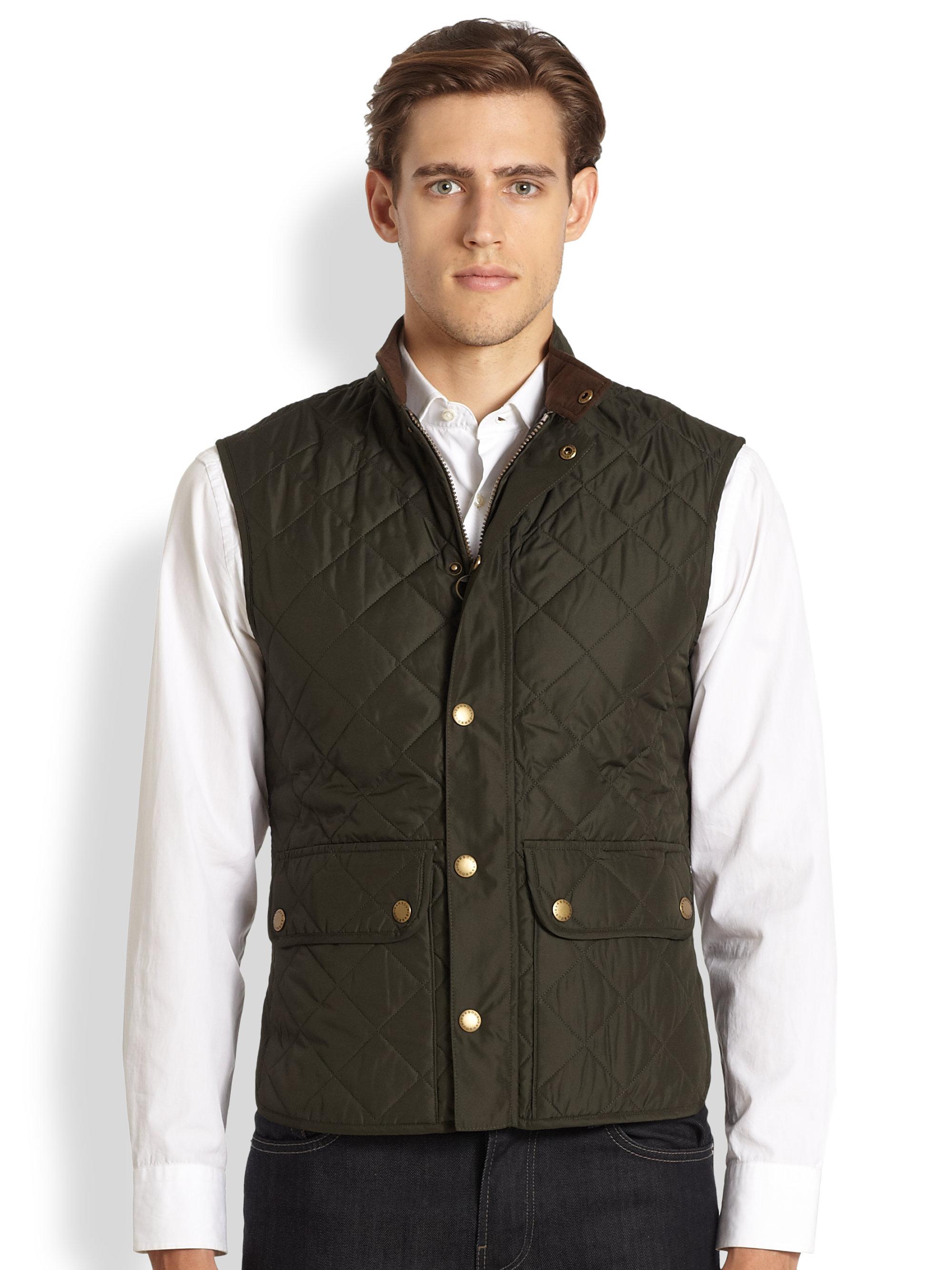 Barbour Lowerdale Quilted Vest In Green For Men Dark