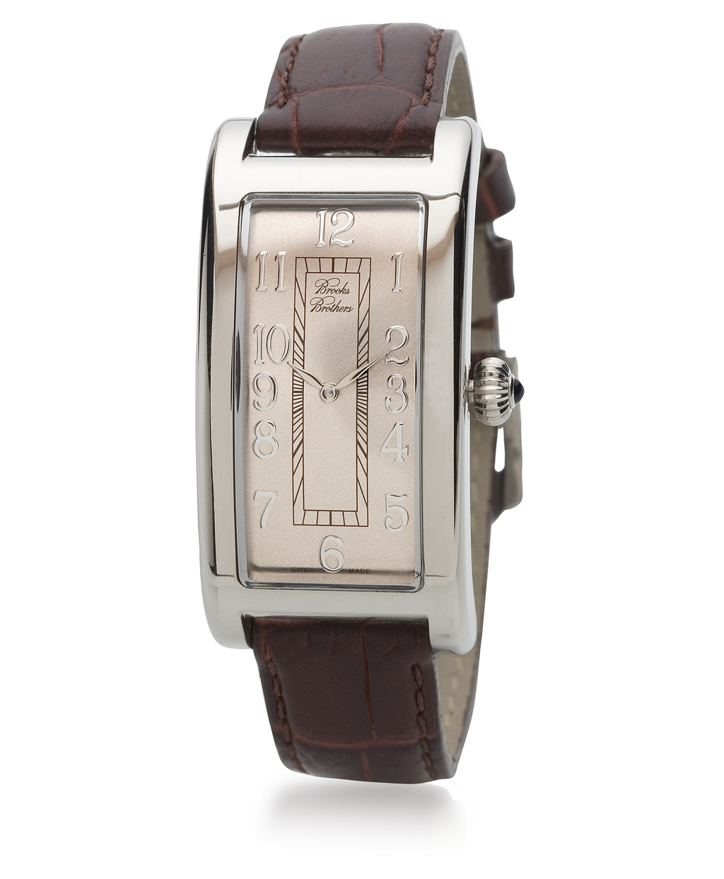 dial emporio mens armani brown strap rectangular s men image watches watch