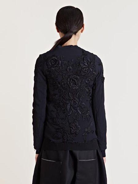 By Walid Womens Silk Fur Kimono Jacket In Black Lyst
