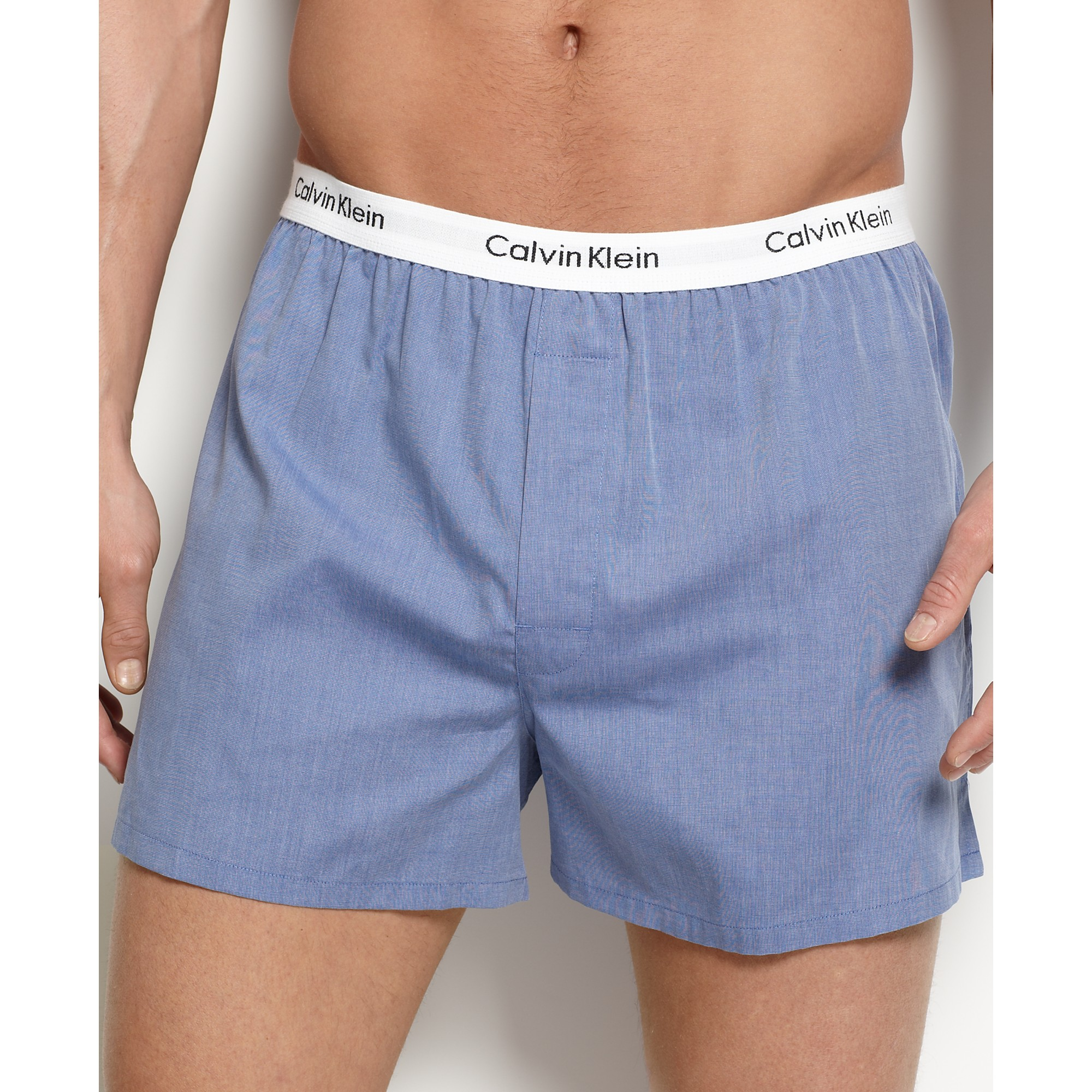 Lyst - Calvin Klein Solid Woven Boxers 3 Pack in White for Men 22675c67b0a