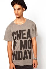 Cheap Monday Tyler Printed Tshirt - Lyst