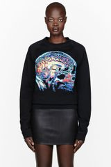 Christopher Kane Black Brain Scan Print Sweatshirt