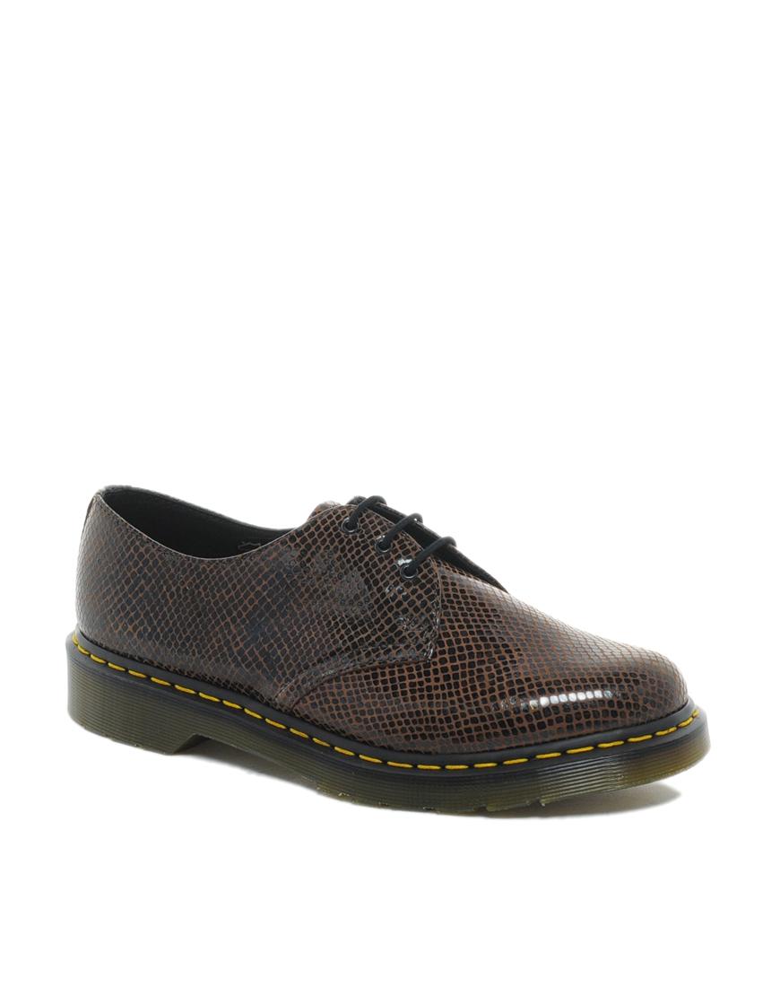 dr martens original 3eye shoes in brown for men lyst. Black Bedroom Furniture Sets. Home Design Ideas