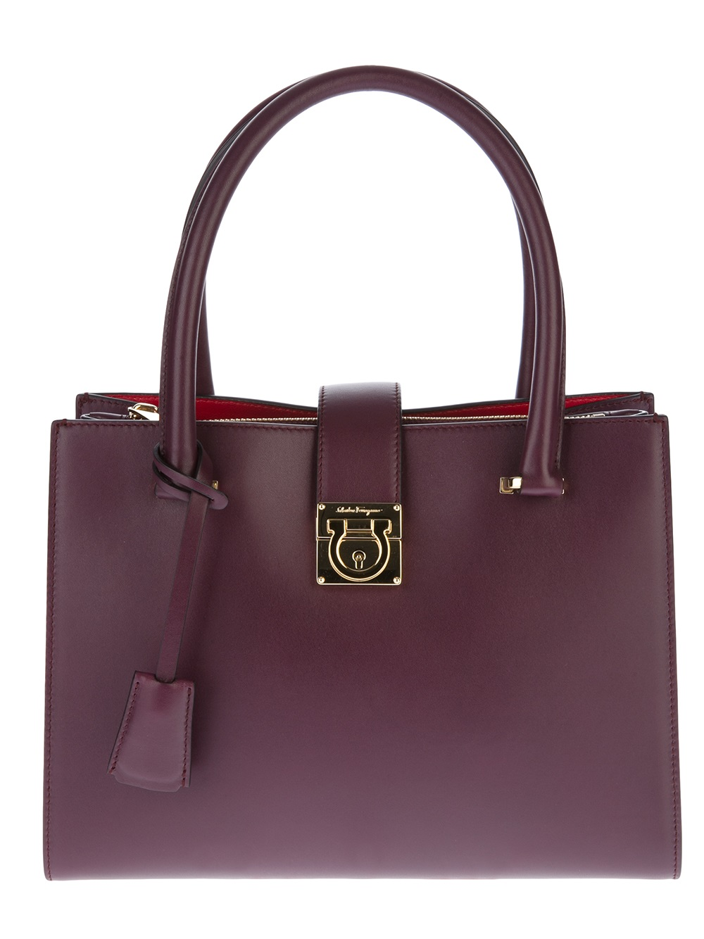 0dd1c638cdab ... Lyst - Ferragamo Juliette Tote in Purple official photos 6ac24 c3a58 ...
