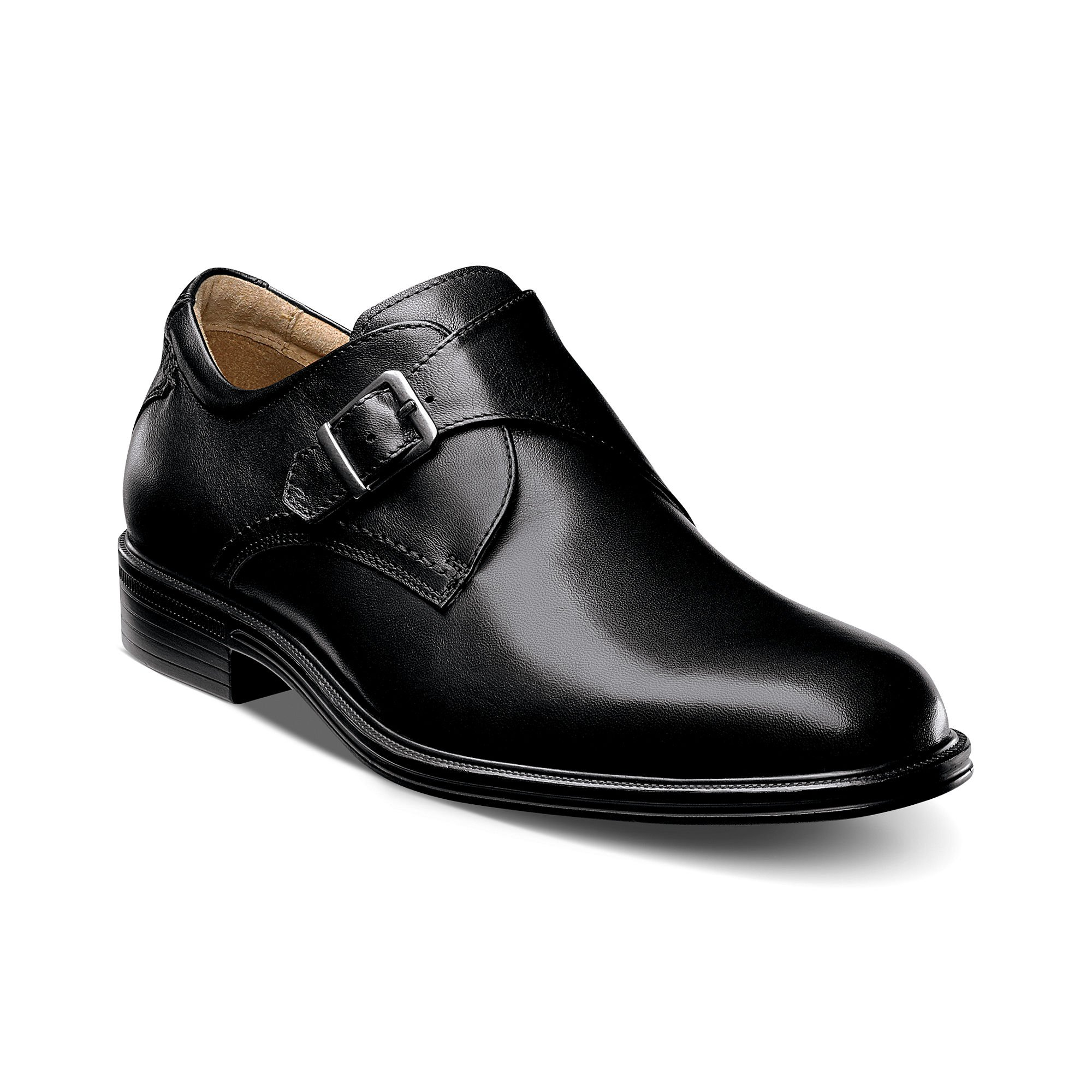 Florsheim Network Monk Strap Plain Toe Shoes In Black For Men Lyst
