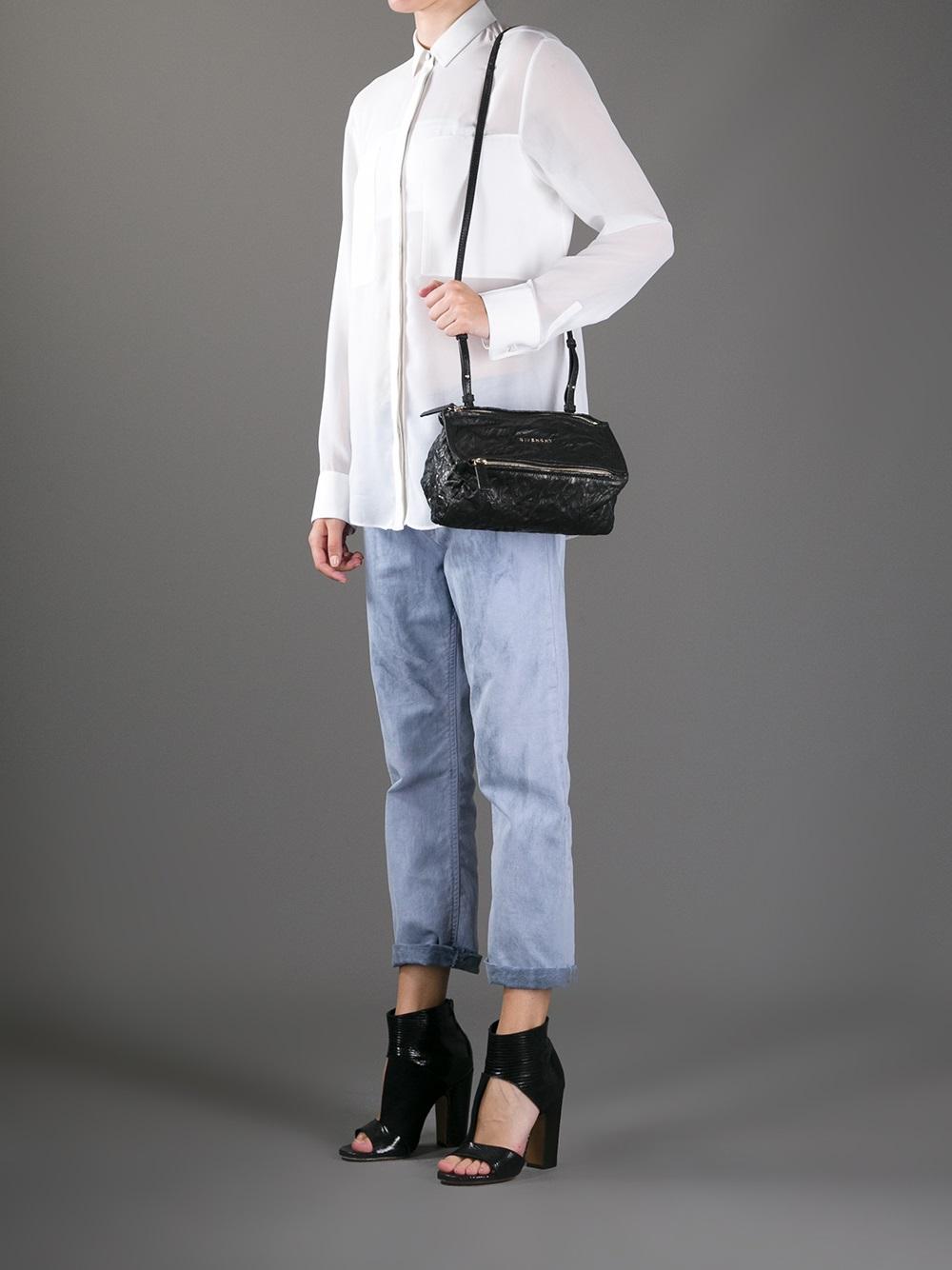 6b75edf7b6 Lyst - Givenchy Mini Pandora Shoulder Bag in Black
