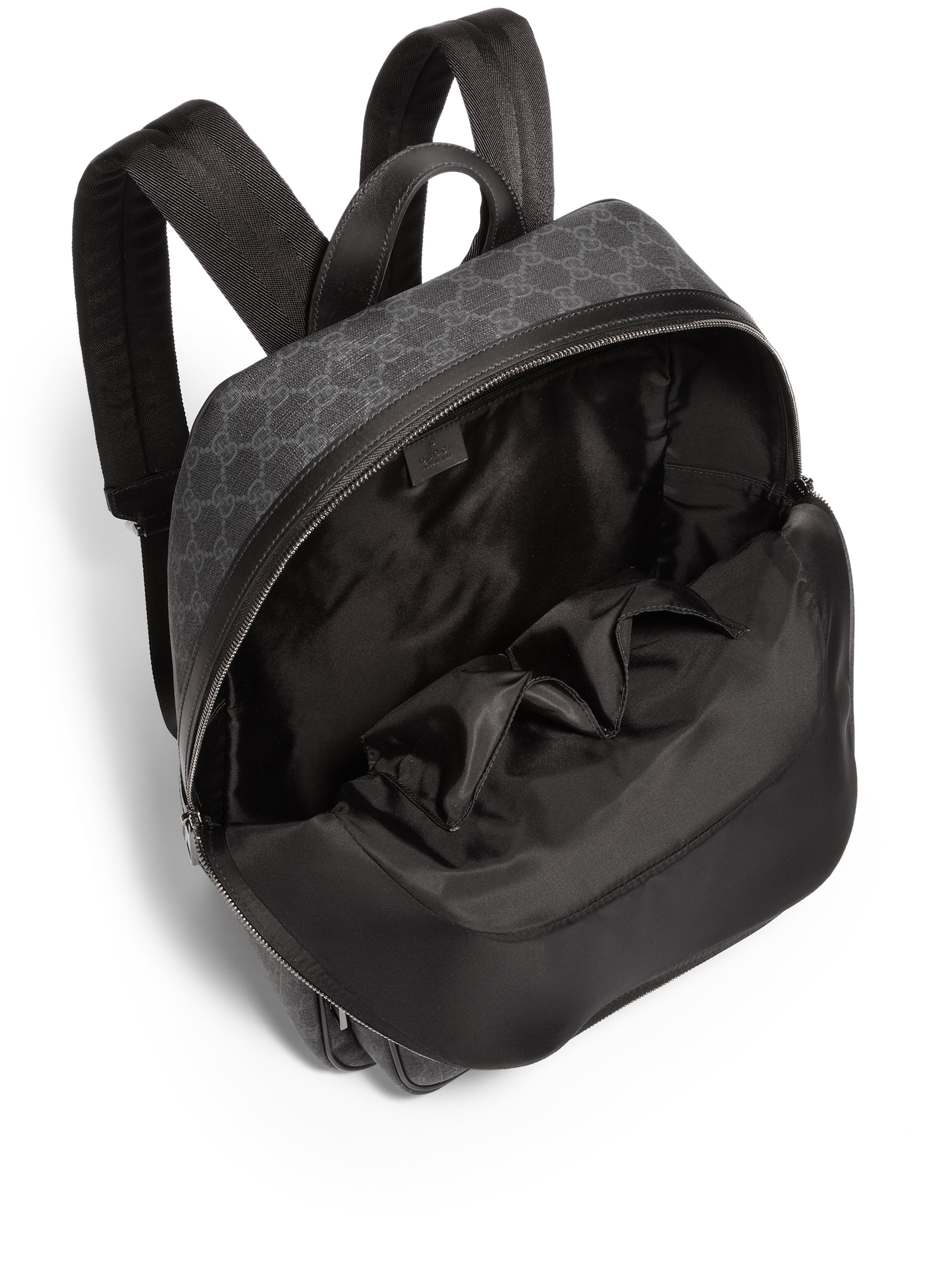 Gucci Gg Backpack in Black for Men | Lyst