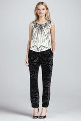 Haute Hippie Beaded Sleeveless Silk Blouse - Lyst