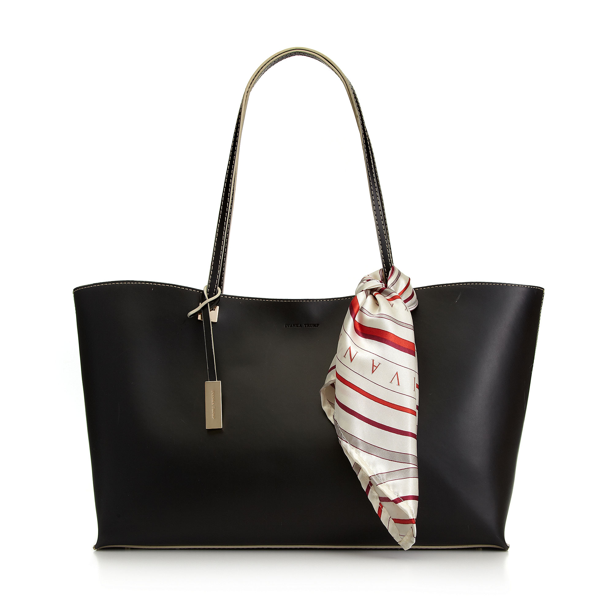 bcbf800b7603 Ivanka Trump Julia Tote with Scarf in Black - Lyst