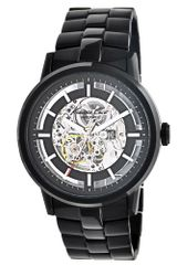 Kenneth Cole Mens Automatic Black Ion Plated Stainless Steel Bracelet 46mm - Lyst