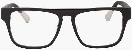 Large Thin Frame Glasses Matte Black : Kris Van Assche Matte Black and Patent Thin Frame Optical ...