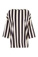 Marni Charcoal Stripes Crew Neck Blouse - Lyst