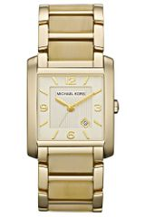 Michael Kors  Frenchy Goldtone Stainless Steel and Horn Acetate Bracelet   - Lyst