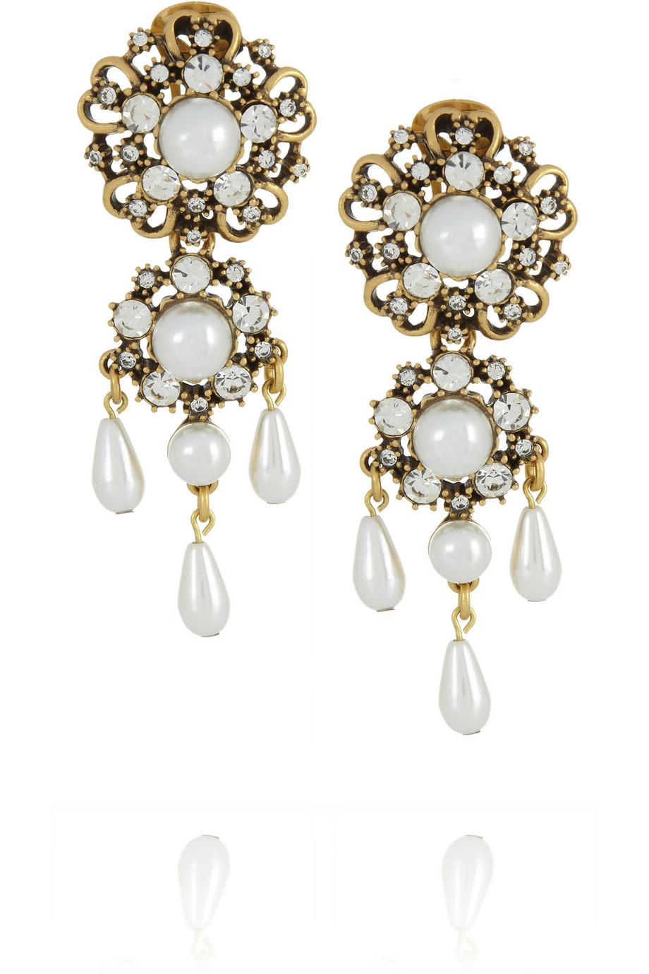Oscar De La Renta Gold-plated Earrings DIa0c