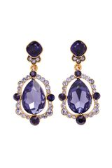 Oscar de la Renta Pear Cut Crystal Drop Earring - Lyst