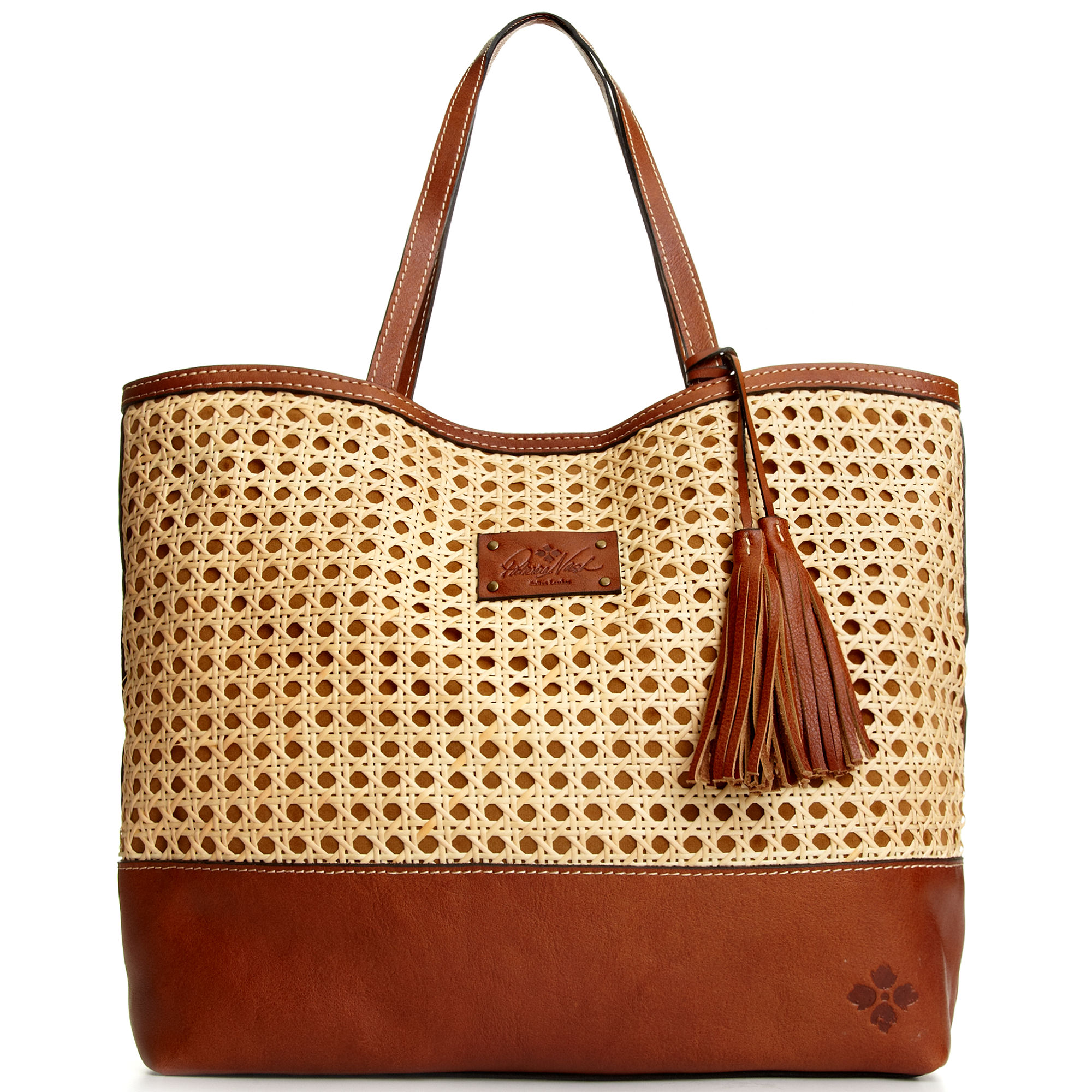 94dd7b827 Patricia Nash Wicker Londra Tote in Brown - Lyst