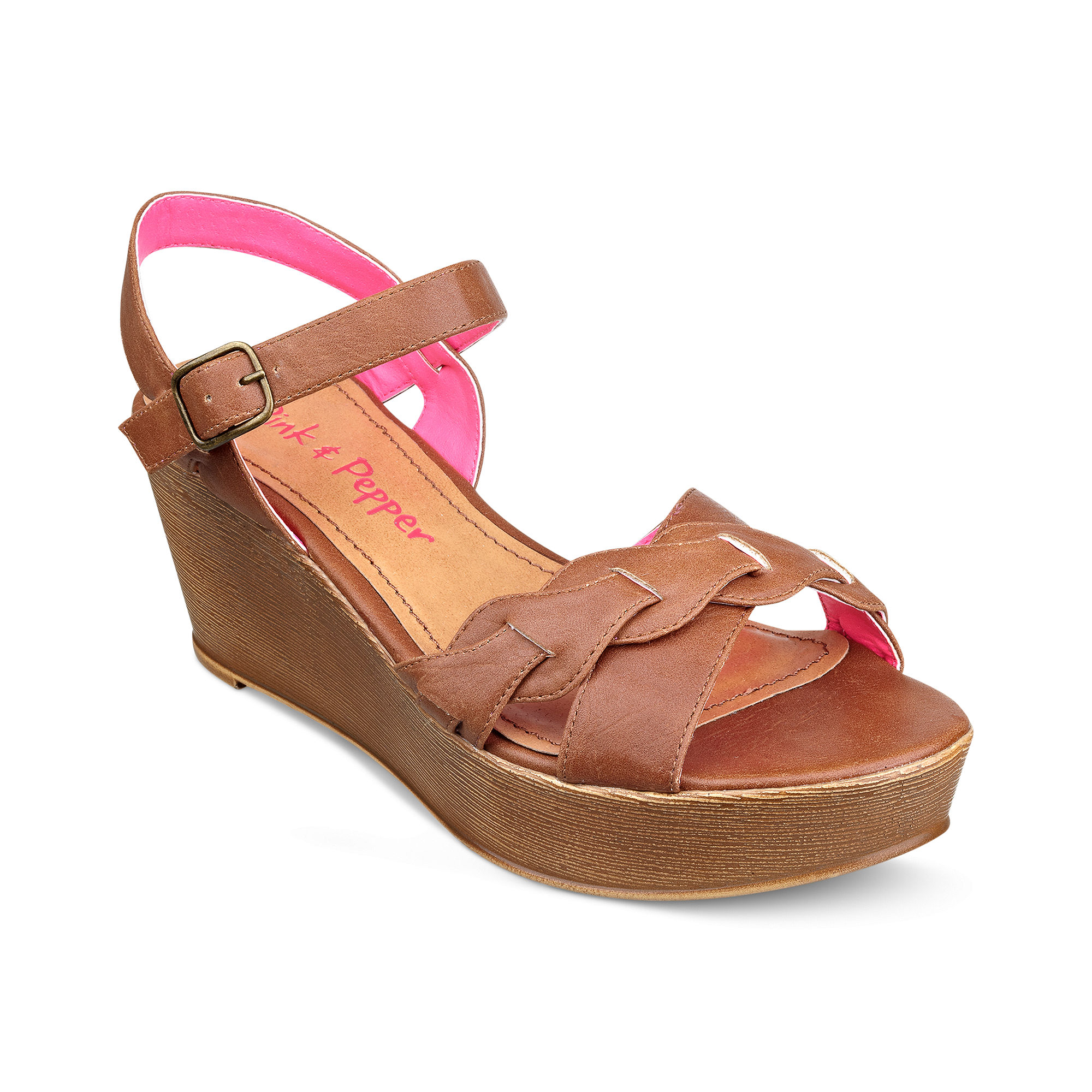 Lyst Pink And Pepper Circuit Platform Wedge Sandals In Pink