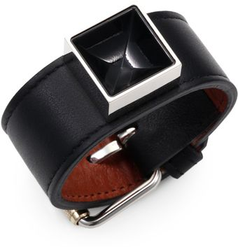 Proenza Schouler Leather and Lacquer Bracelet - Lyst