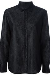 Saint Laurent Lace Print Shirt - Lyst