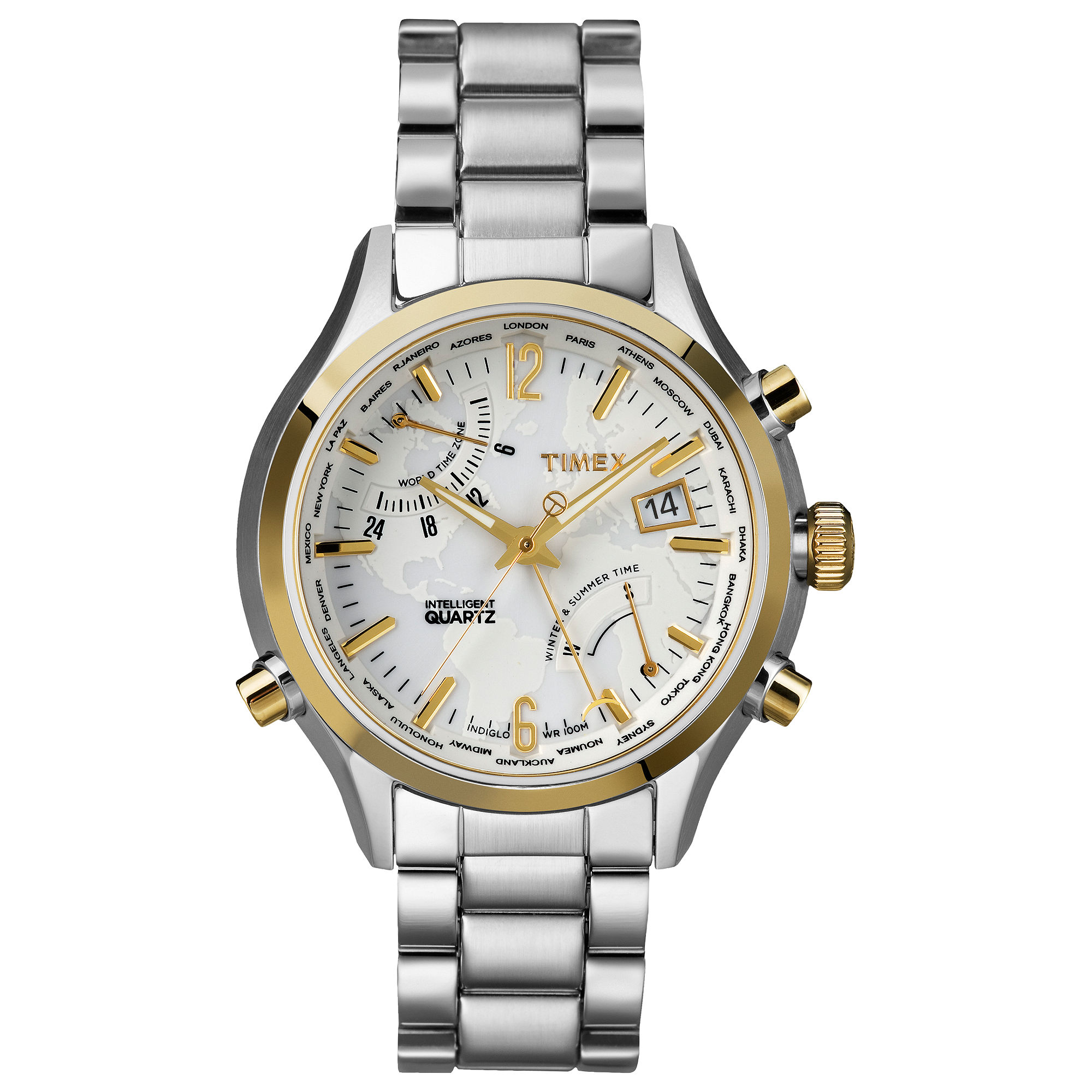 Timex® Mens Premium Intelligent Quartz World Time ...