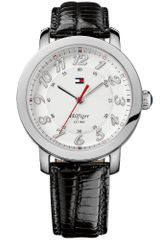 Tommy Hilfiger Womens Black Leather Strap 38mm - Lyst