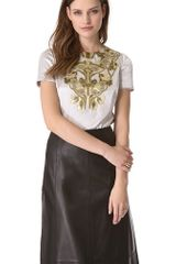 Tory Burch Tia Embellished Top - Lyst
