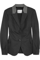 Yves Saint Laurent Stretchwool Flannel Blazer - Lyst