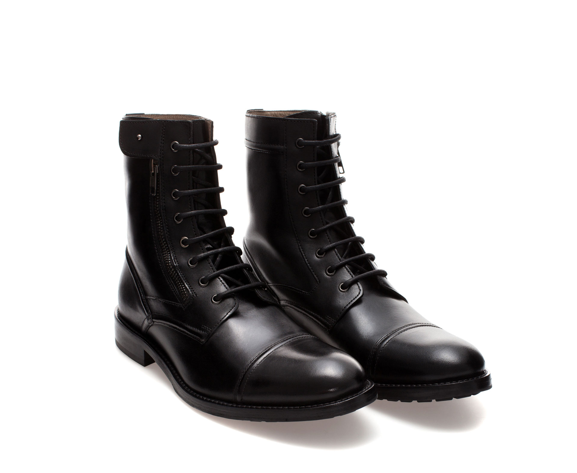 Zara Combat Boot In Black For Men Lyst
