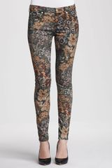 7 For All Mankind The Skinny Jeans Digital Tapestry - Lyst