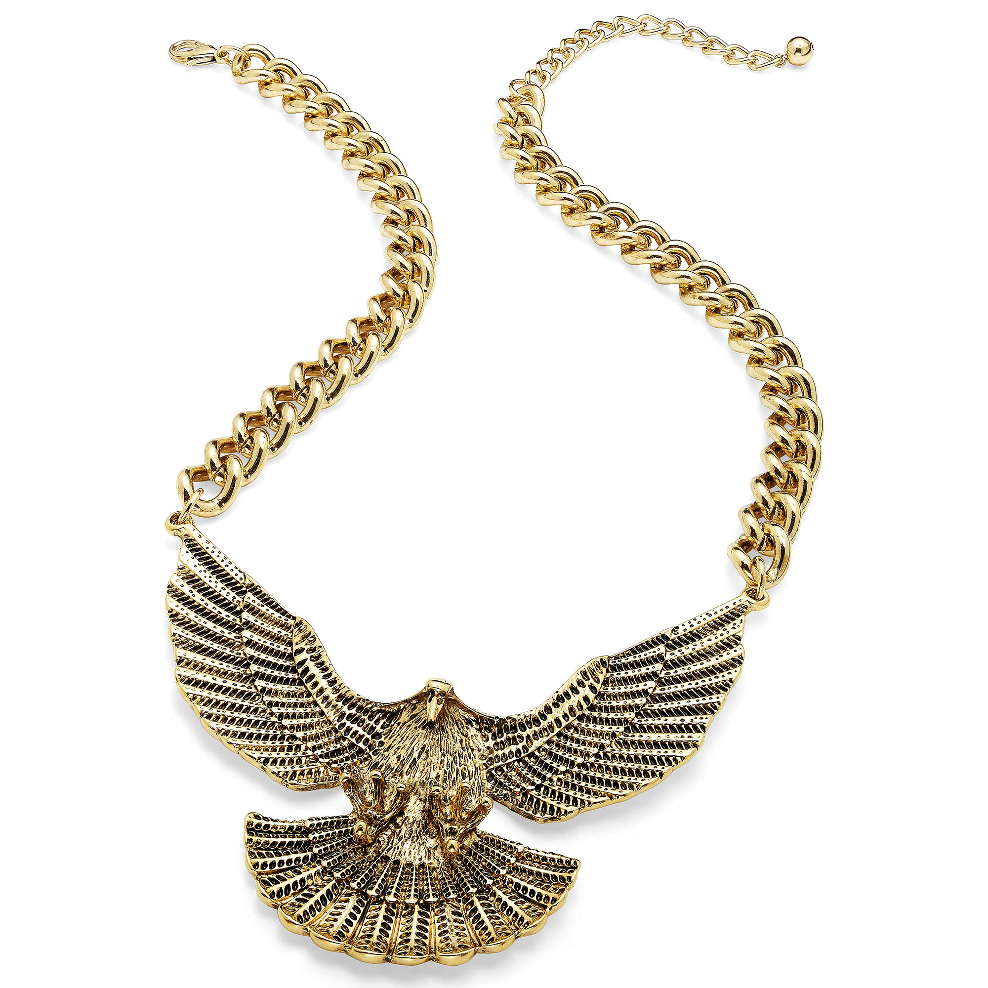 american rag goldtone eagle pendant necklace in gold no