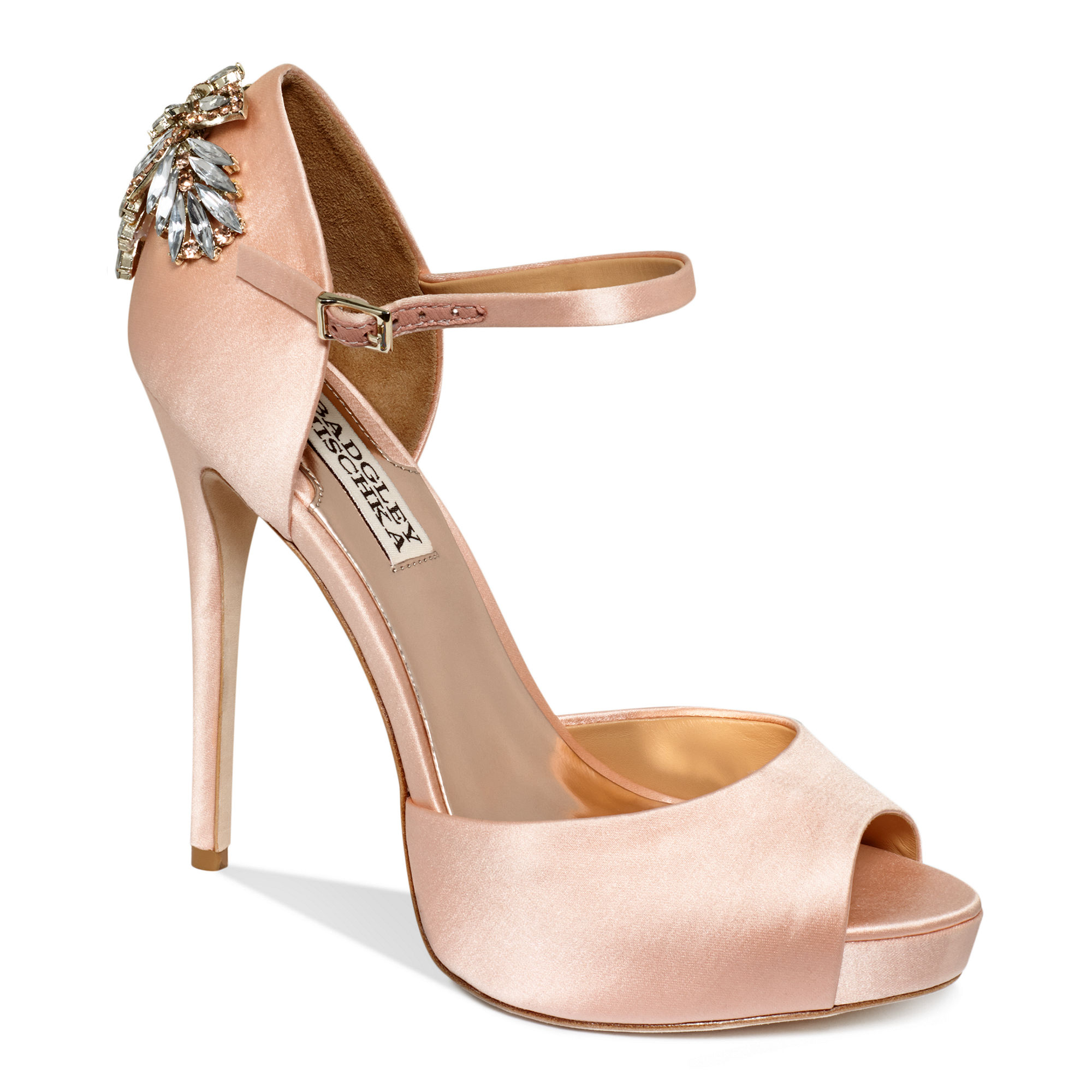 Lyst Badgley Mischka Nessa High Heel Evening Pumps In Pink