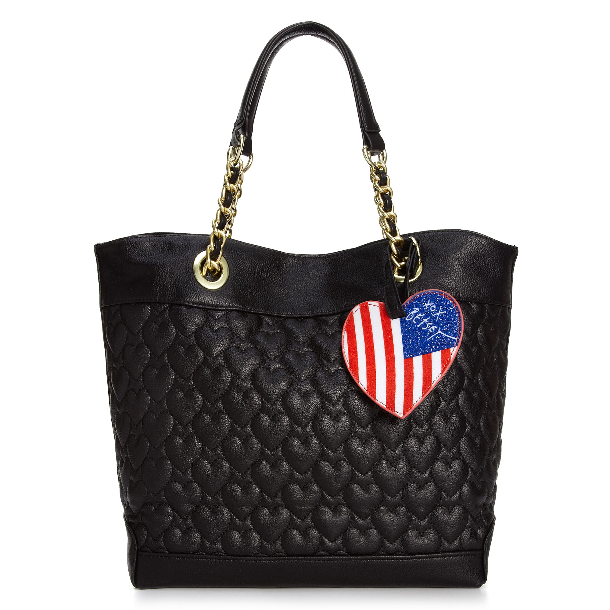 Betsey Johnson Quilted Hearts Tote In Red Lyst