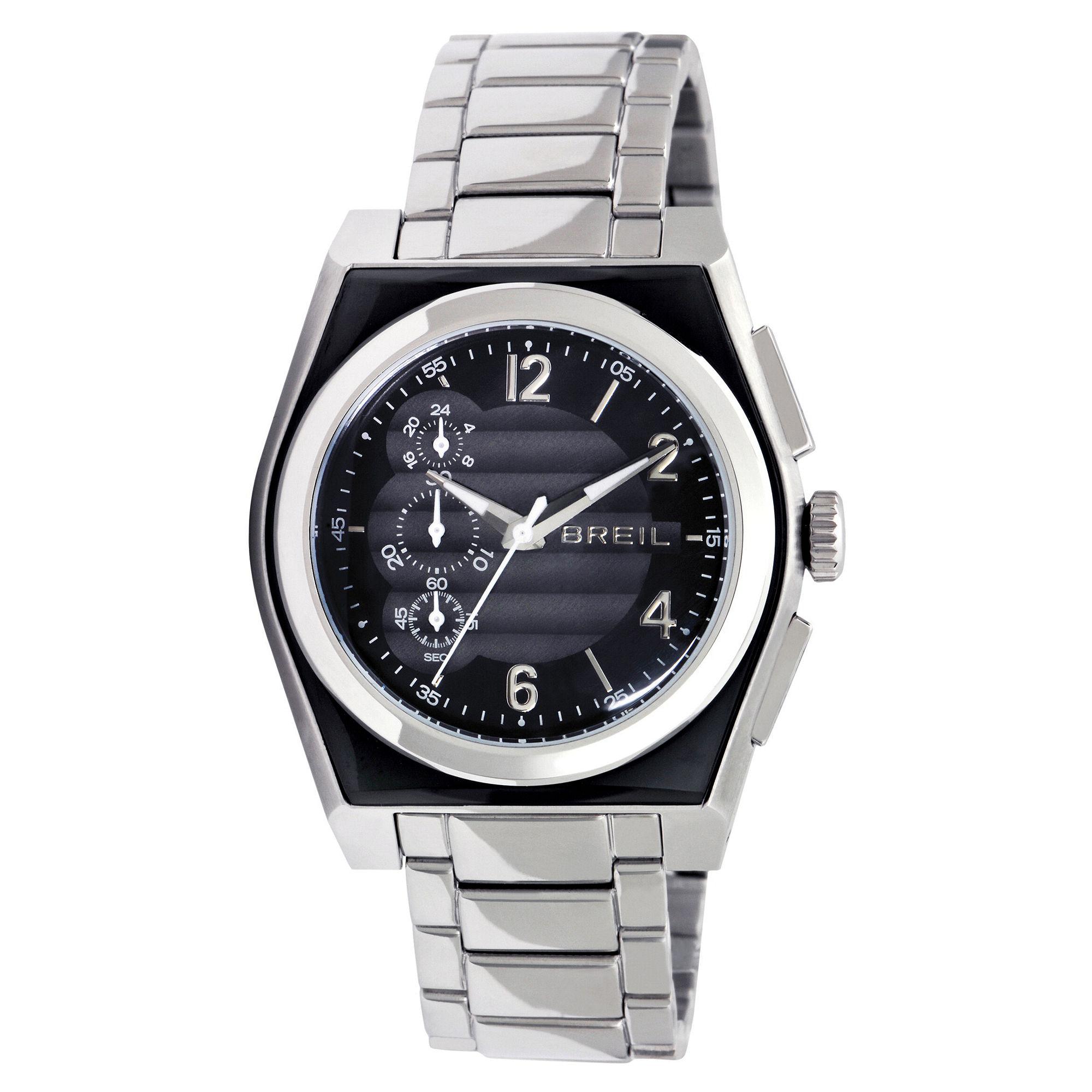breil mens chronograph escape stainless steel bracelet in