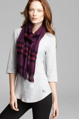 Burberry Giant Icon Cashmere Check Scarf - Lyst