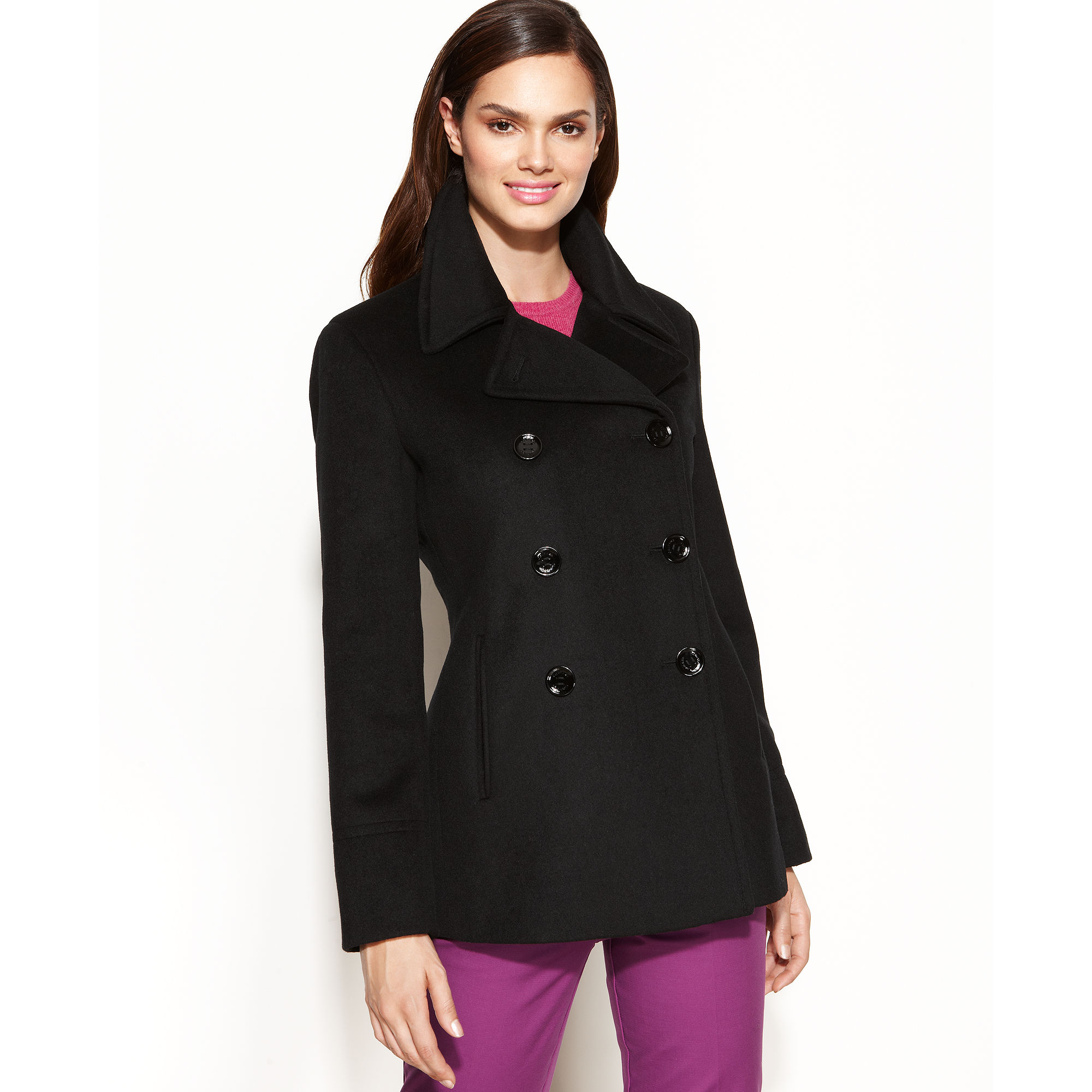 Cashmere Pea Coat Womens
