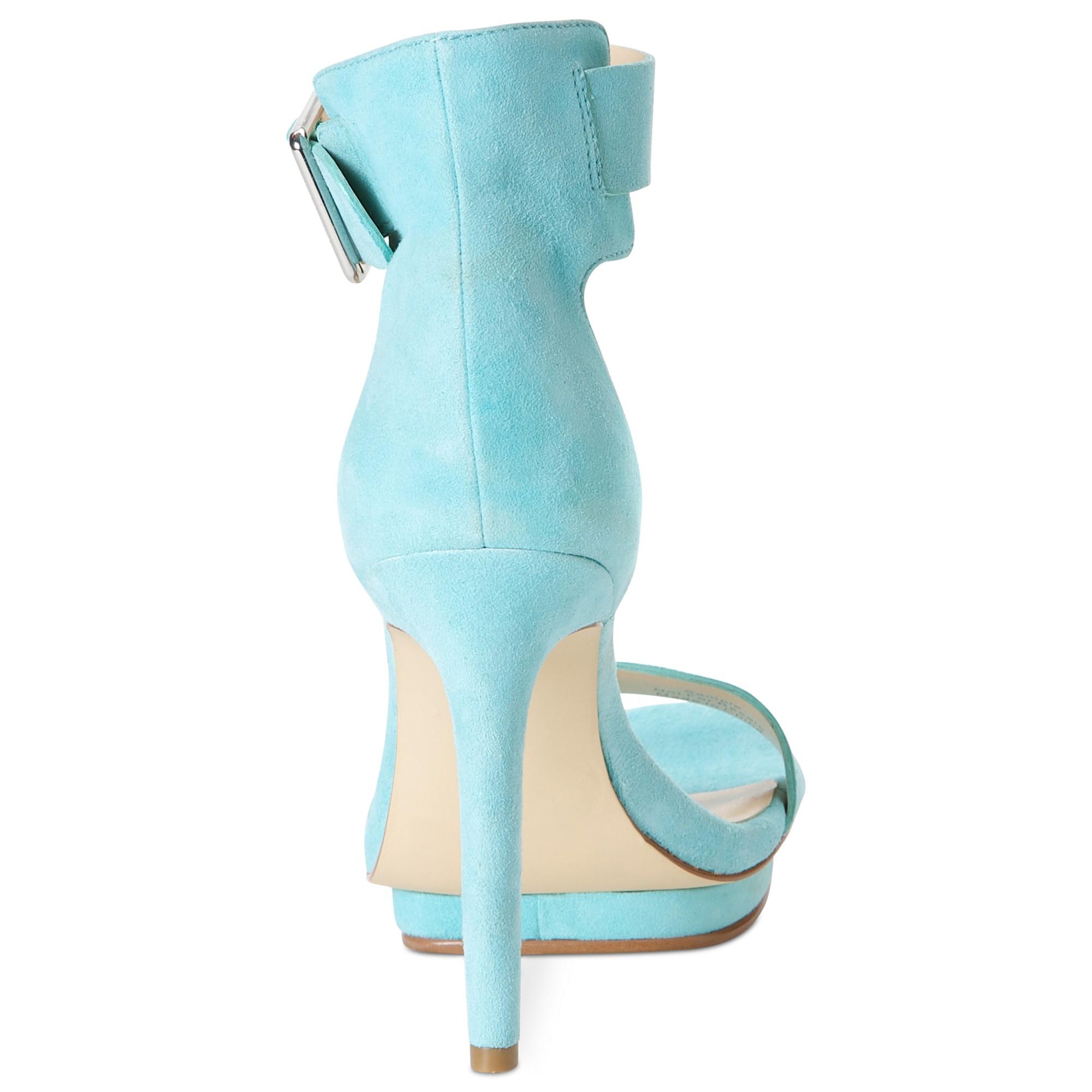 e805d7257c66 Lyst - Calvin Klein Vivian High Heel Sandals in Green