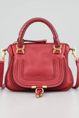 Chloé Marcie Mini Crossbody Bag Red - Lyst