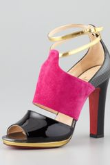 Christian Louboutin Lasauve Color-block Sandal Grenadine-multi - Lyst