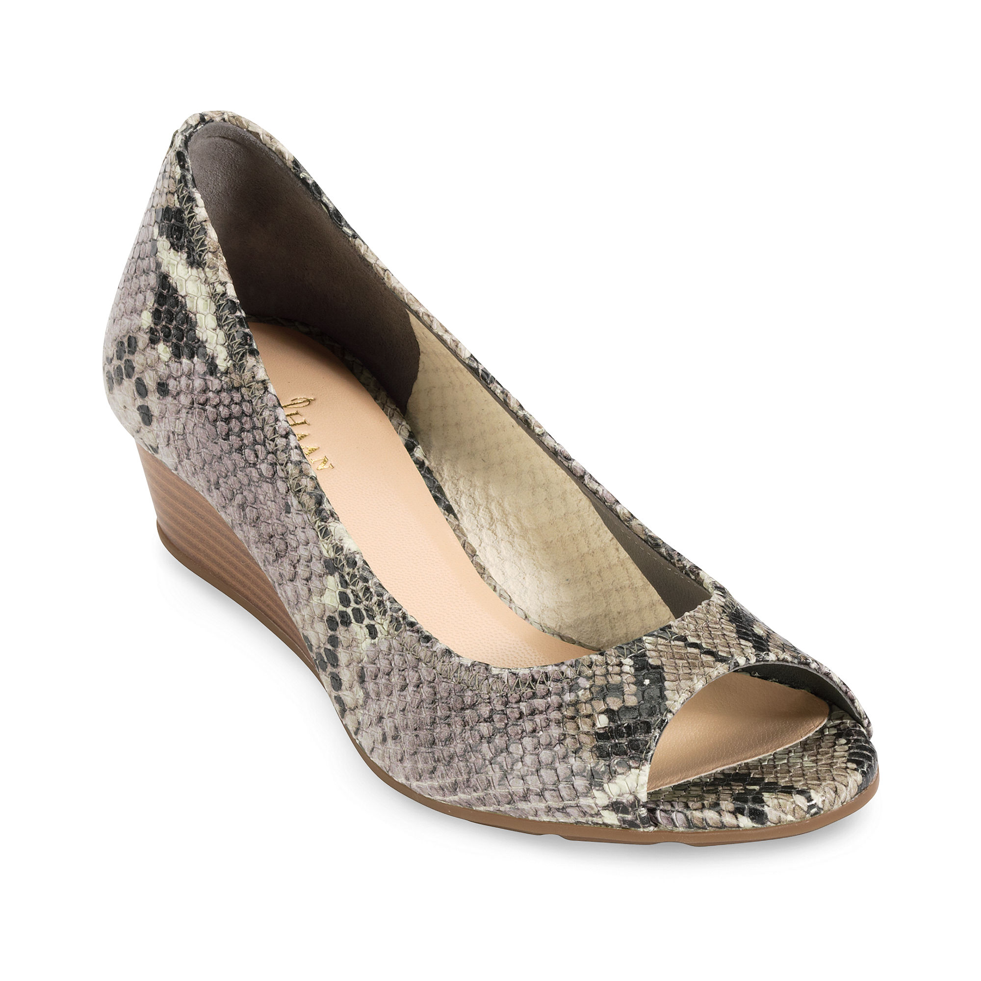 87fe46a99236 Lyst - Cole Haan Air Tali Ot Wedges in Gray